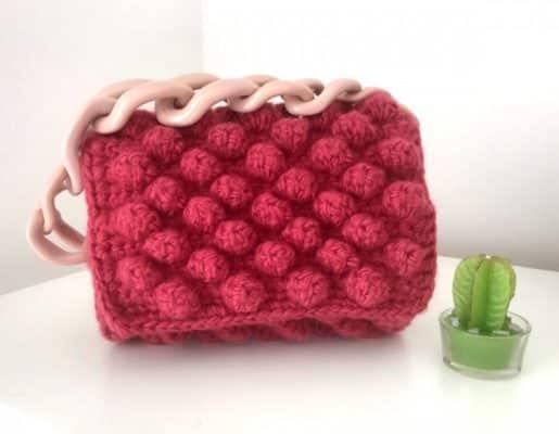 Чанта бижу - 100% ръчно плетена чанта