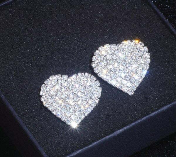 обеци Блестящи сърца