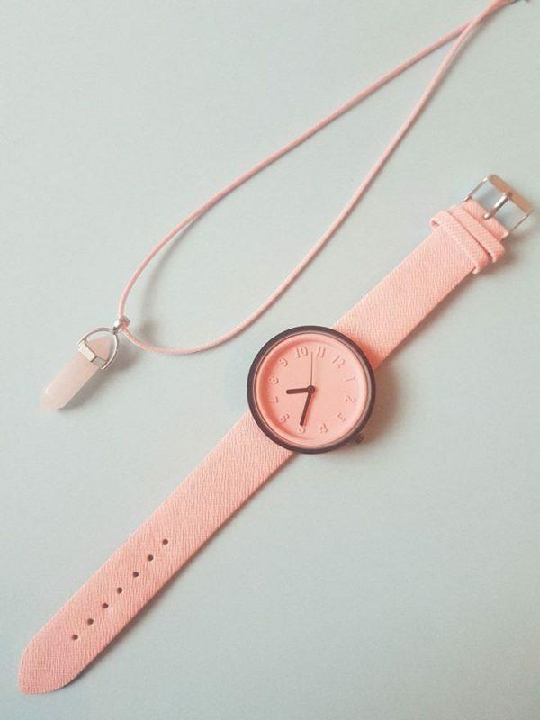 Часовник Розов кварц