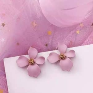 Обеци Нежни розови цветя