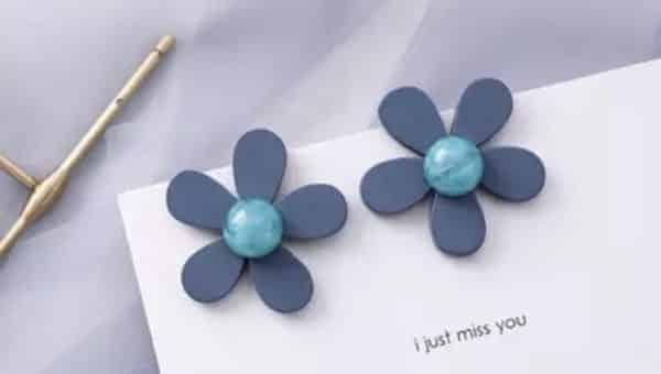 Обеци Сини цветя