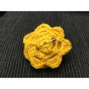 Брошка Жълто цвете