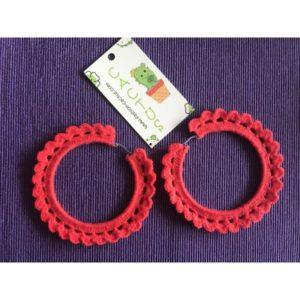 Ръчно плетени обеци