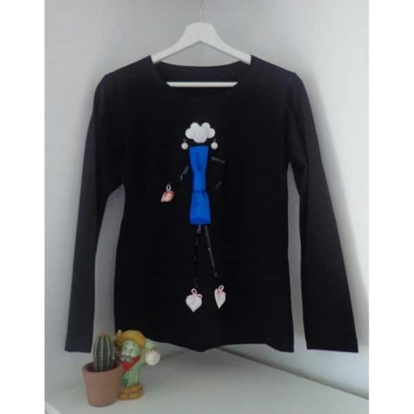 Тениска с дълъг ръкав Дамата в синьо