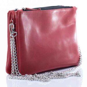 Чанта от естествена кожа 3 в 1
