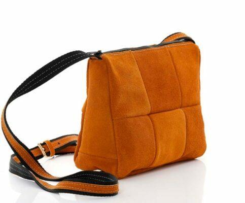 Чанта Orange от естествен велур