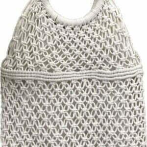 Плетена чанта с кръгли дръжки
