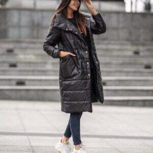 Дълго яке с големи джобове